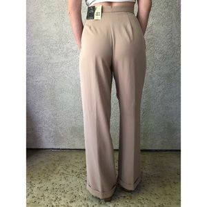 [vintage] *deadstock* Express wide leg taupe pants